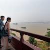 長江を眺めて
