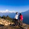 標高3200mからヒマラヤの朝を撮影