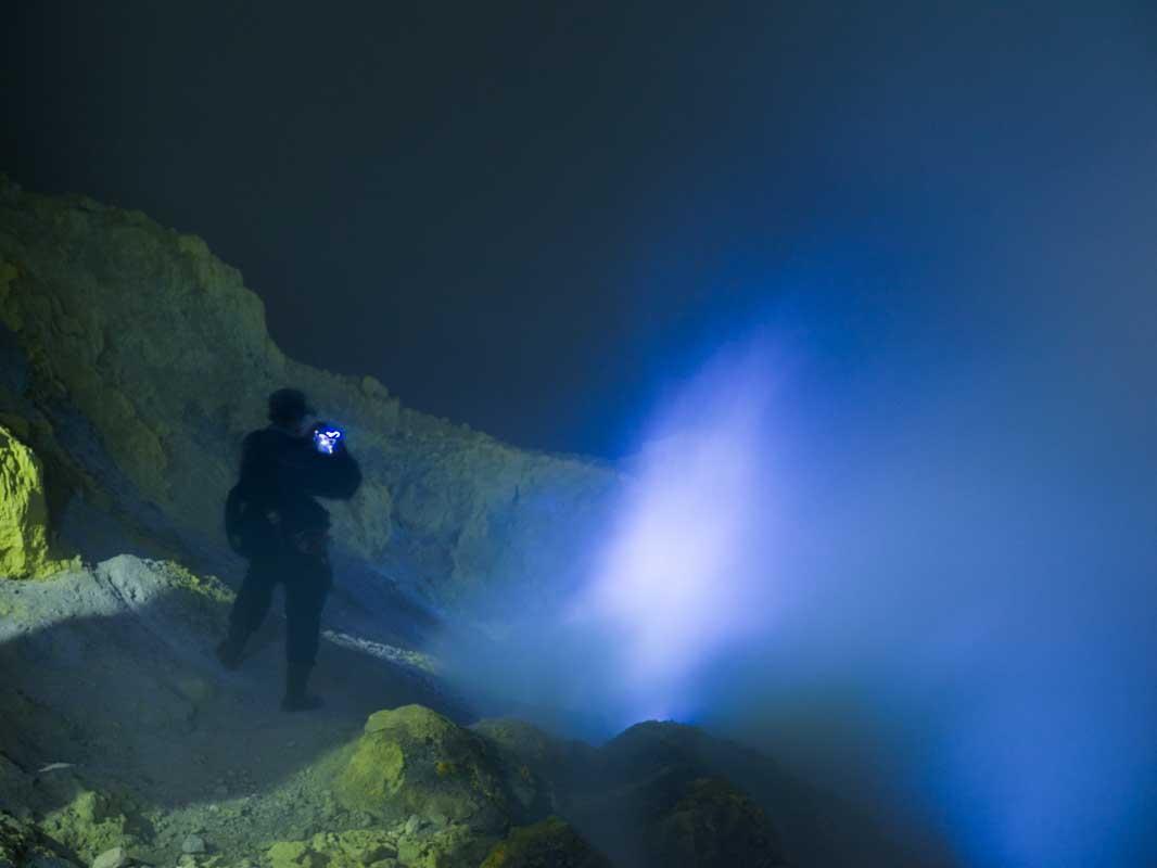 イジェン山の青い炎2