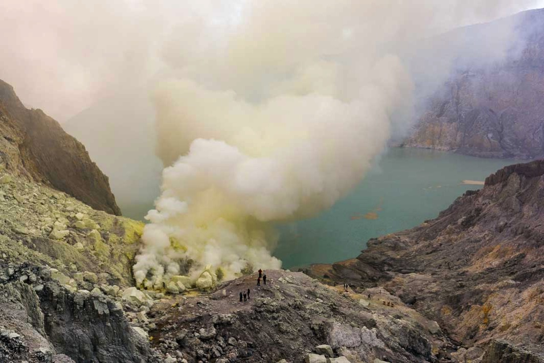 イジェン山の火口5