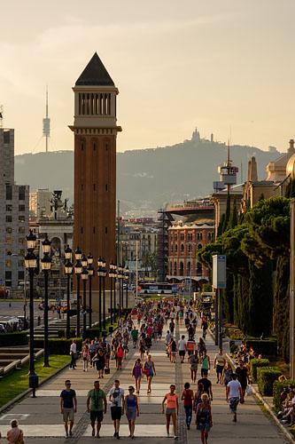 カタルーニャ美術館への道