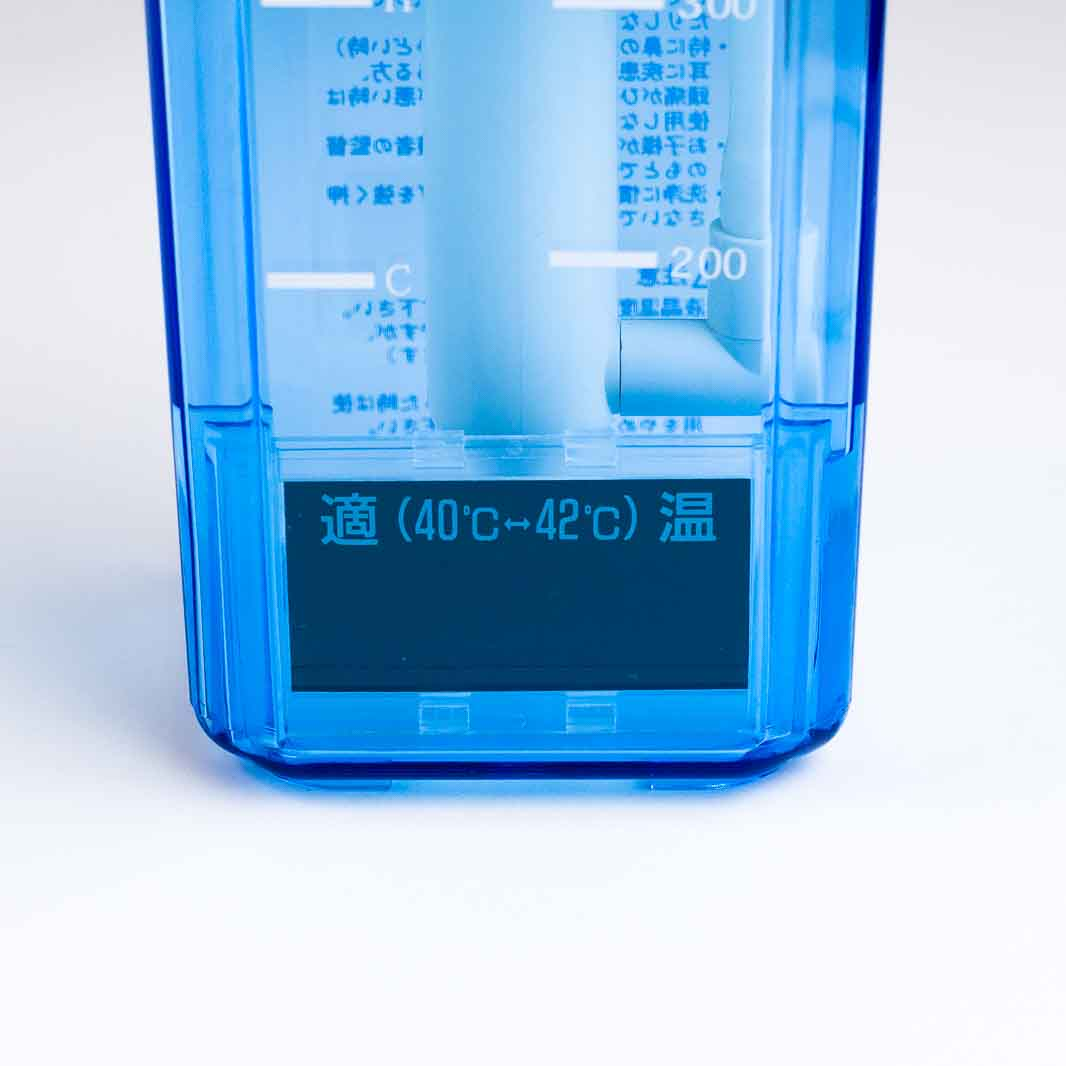 ハナクリーンαの温度計部分