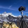 さすがは世界最高峰。一日の最後の光はエヴェレストにしか当たらない。