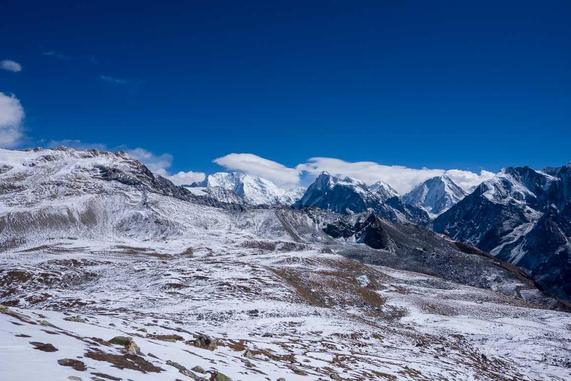 ツェルゴリ頂上から見たヤラピーク