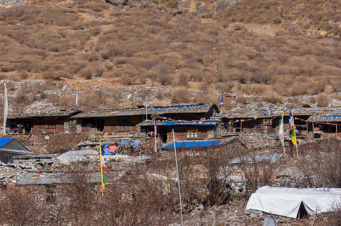 ランタン村の隣のチベット人の村