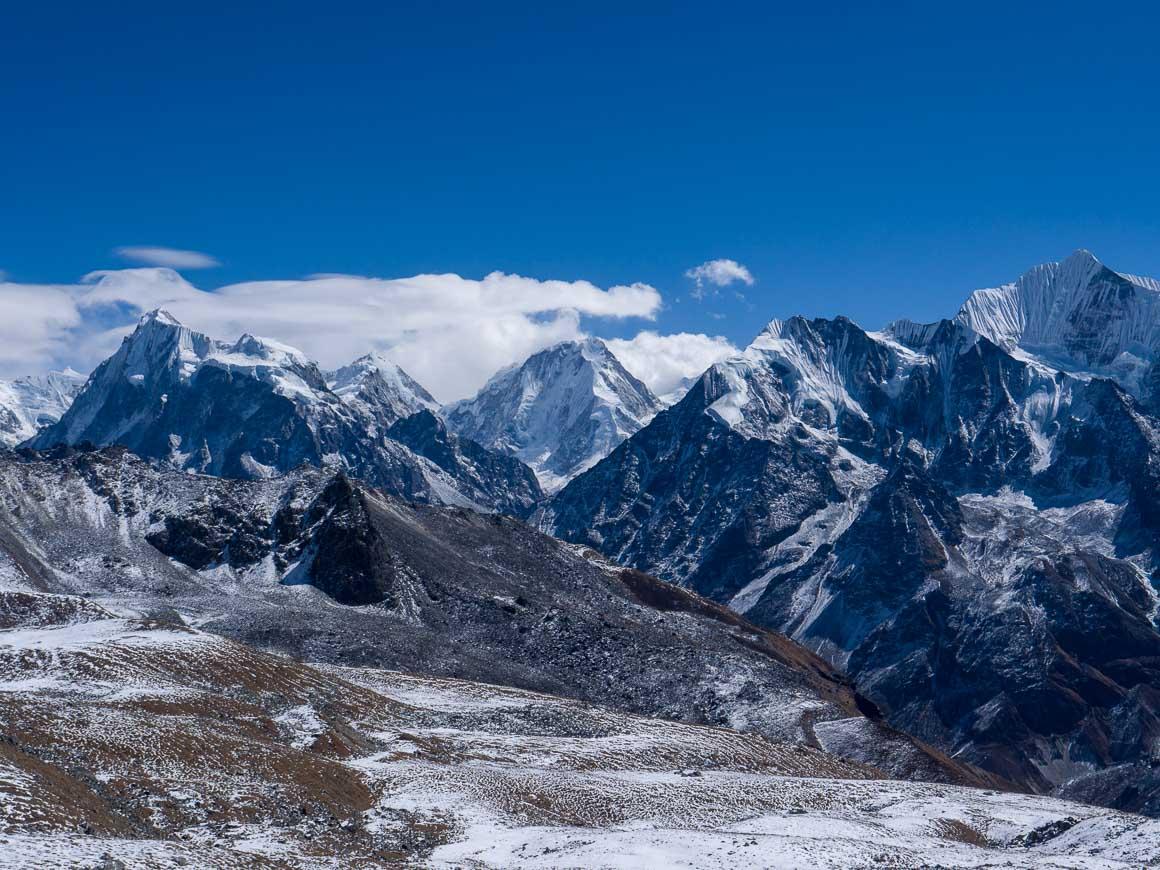 ツェルゴリ頂上から見たドルジェラクパ