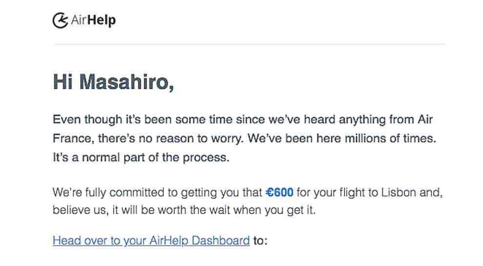 AirHelpからのメール3