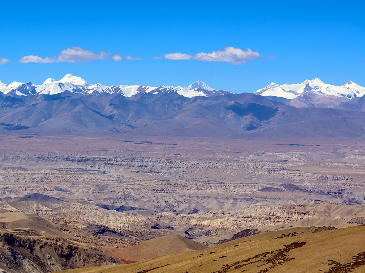 ヒマラヤ山脈の北側チベット高原