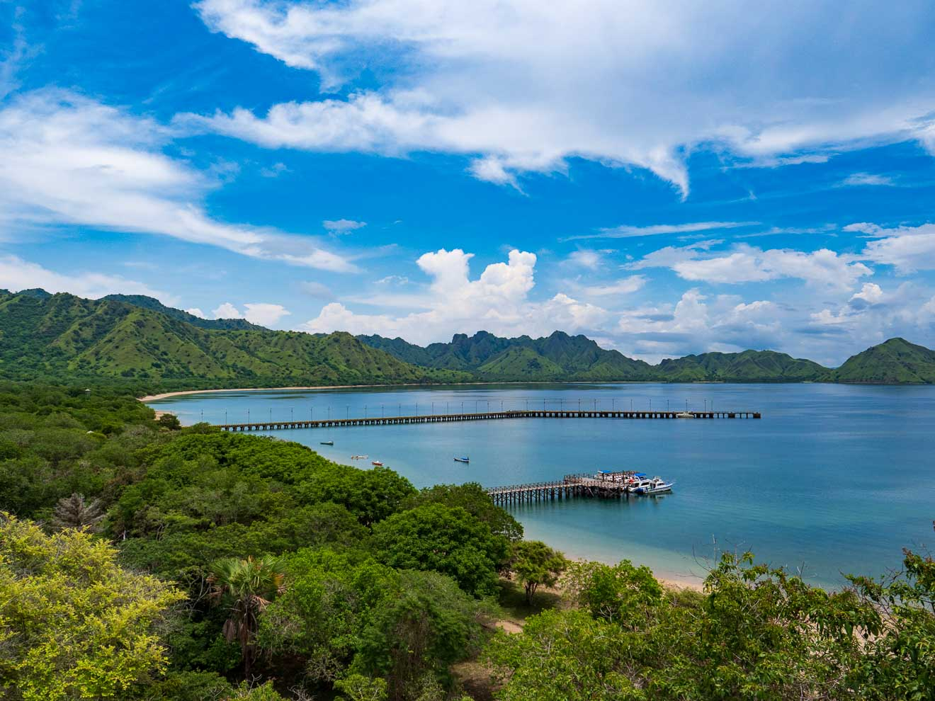 コモド島の入江