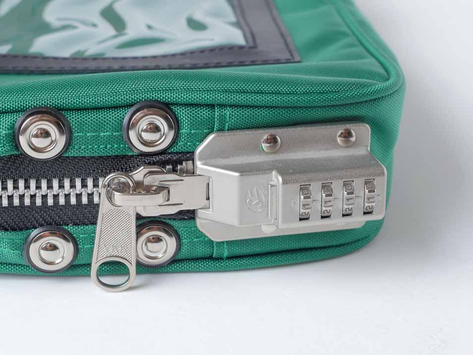 集金鞄SED-1の鍵のアップ