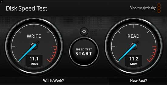 Synology DiskStation DS118にIronWolf Pro 14TBをセットしてスピード計測した
