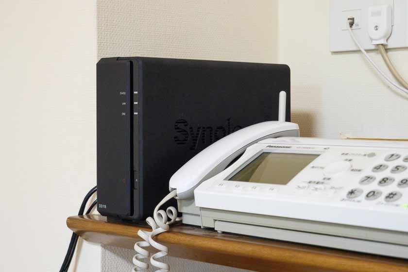 DS118をリビングルームに設置
