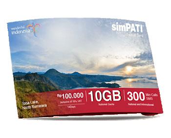 旅行者向けにTelkomsel社がキャンペーンで販売しているsimPATIのSIMカード