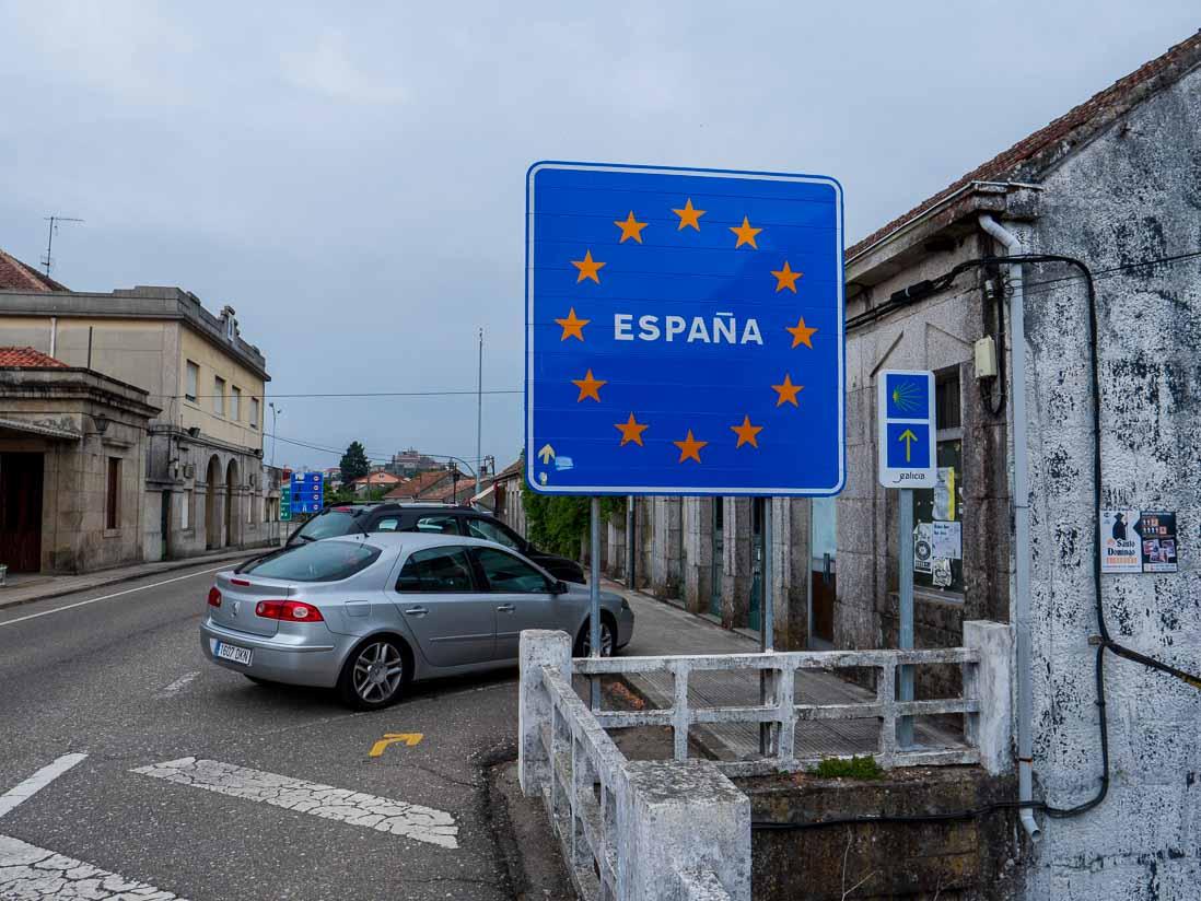 スペインに入国した標識
