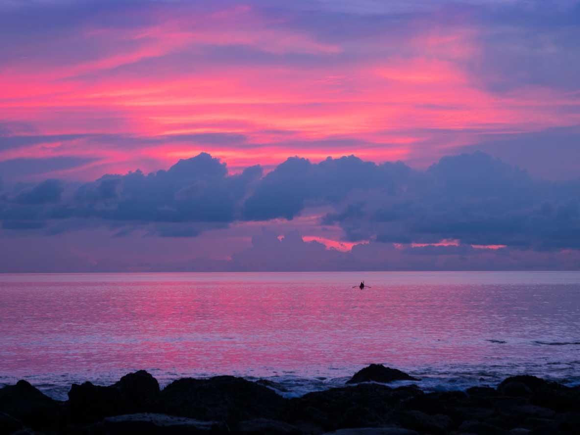 ウェー島から見た夕焼け