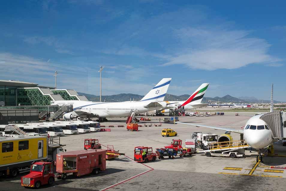 バルセロナのエルプラット空港第1ターミナル