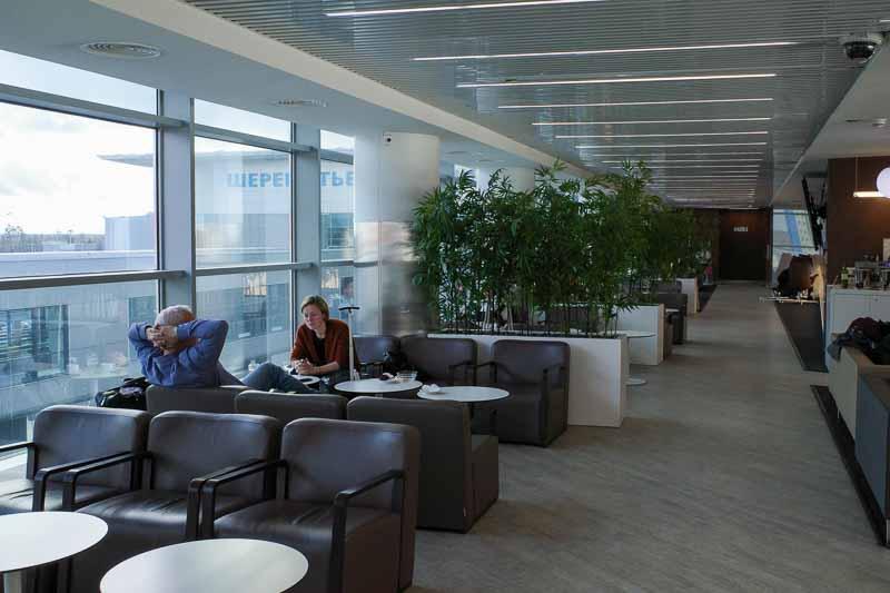 モスクワ シェレメチェボ II 空港のガラリア ラウンジ