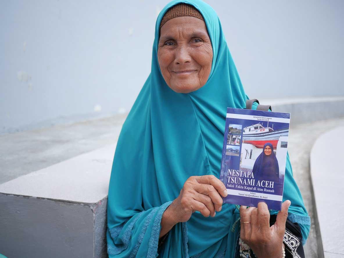 津波を生き残った女性