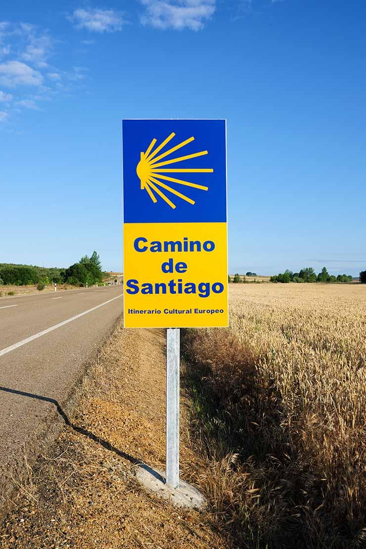 Camino de Santiago の道路標識