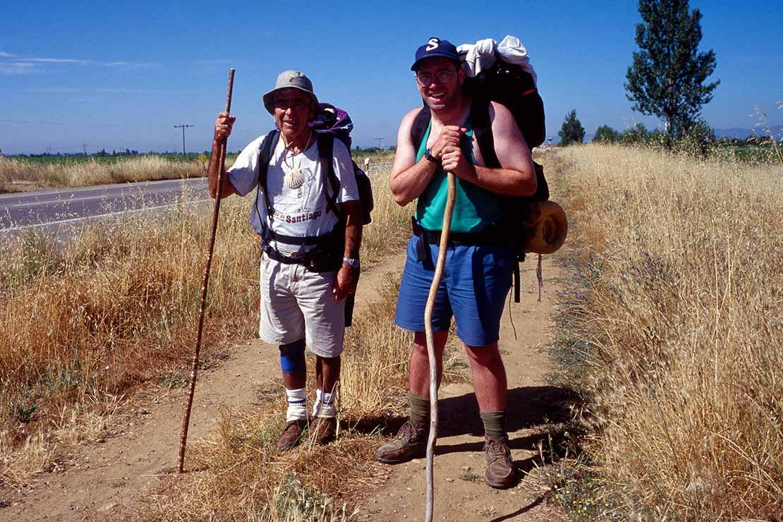 1996年当時のサンティアゴ・デ・コンポステーラの巡礼者