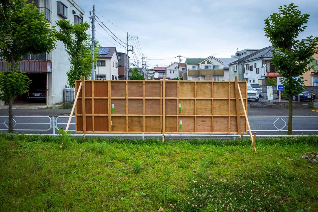東京都知事選の選挙ポスター掲示板