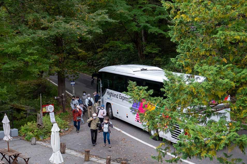 上高地のバス