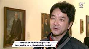 スペインのテレビに出演