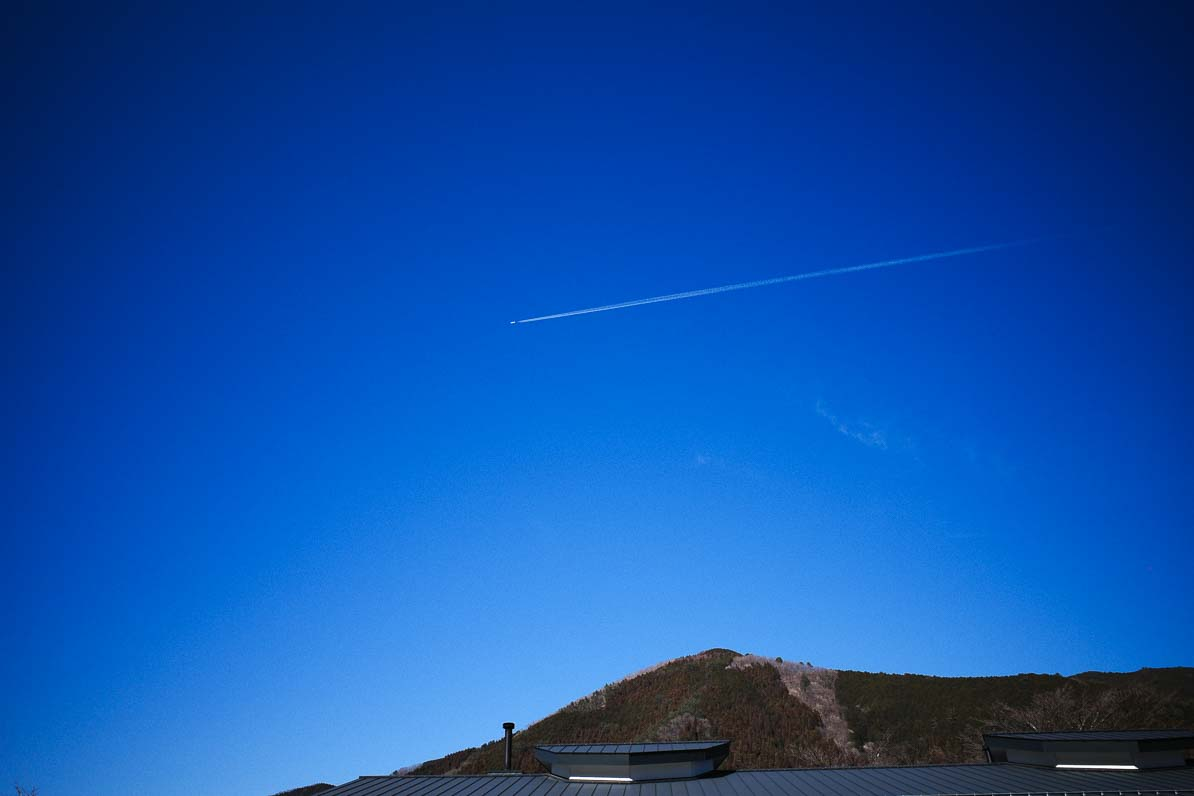 小菅村の青い空