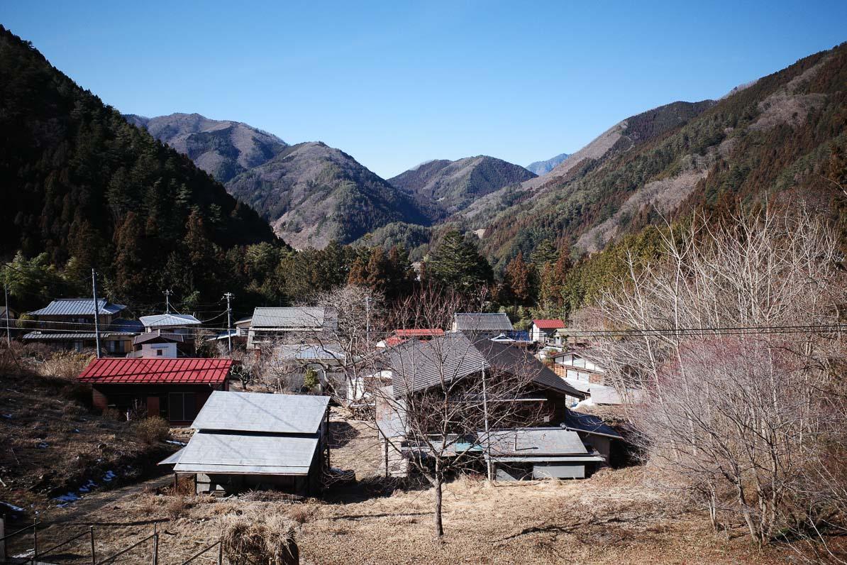 山梨県小菅村の景色