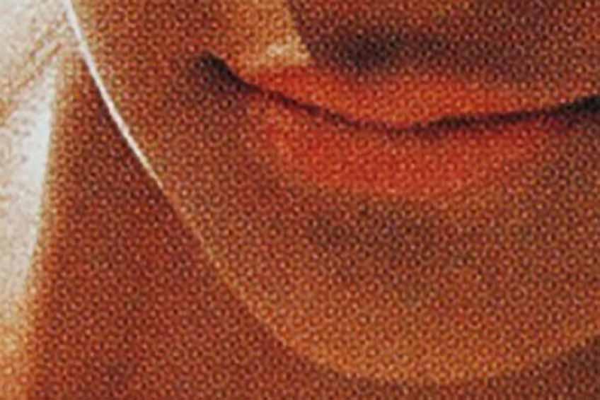 資生堂のポスターの網点