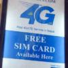 ネパールの国際空港では、SIMカードを無料で配っているぞ